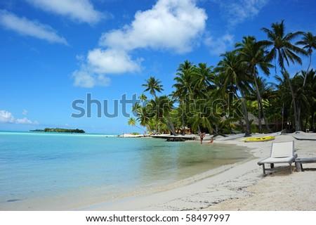 beach at bora bora - stock photo