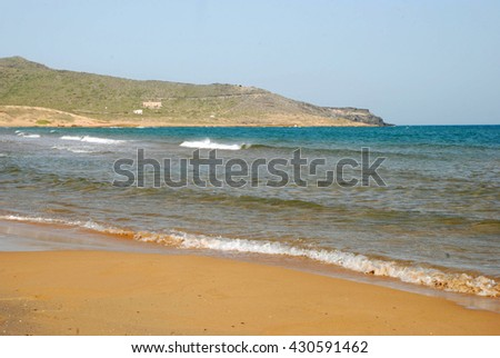 Beach at Calblanque reserve, near Cartagena, Spain