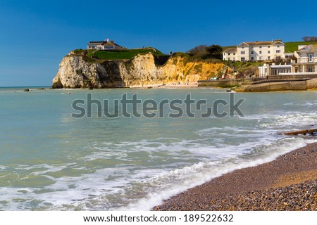 Beach at Freshwater Bay on the Isle Of Wight England UK Europe
