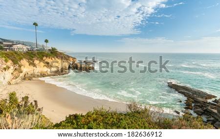 Beach at Laguna Beach, California - stock photo