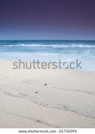Beach at lanzarote. - stock photo