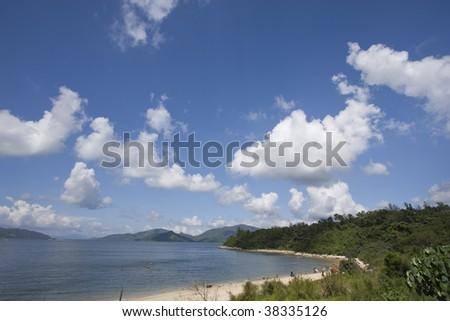 Beach at Sai Kung, Hong Kong - stock photo