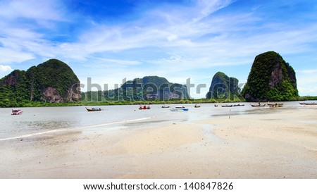 Beach at Trang in the Andaman Sea, Thailand - stock photo