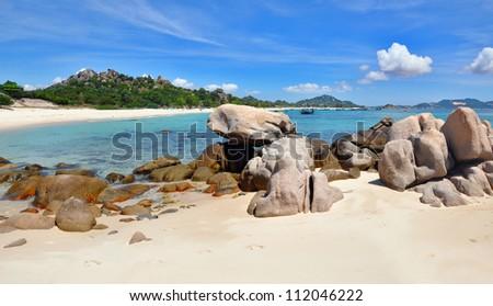 beach Bai Dai. Cam Ranh, Nha Trang, Vietnam - stock photo