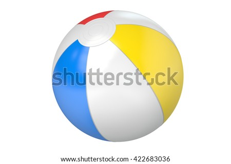 Beach Ball, 3D rendering isolated on white background