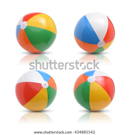 Beach ball set. Isolated on white background