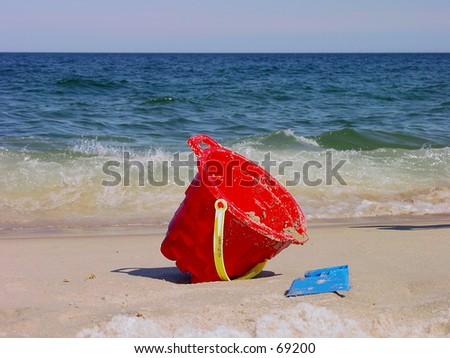 Beach Bucket - stock photo