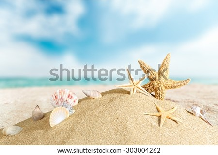 Beach, cancun, sunlight. - stock photo