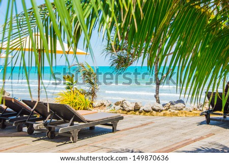 beach chair  - stock photo