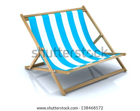 beach chair extra large - stock photo