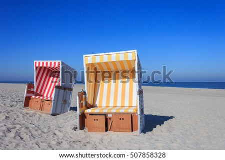 Strandkorb clipart  Beach Chairs Called Strandkorb German Stock Photo 507858328 ...