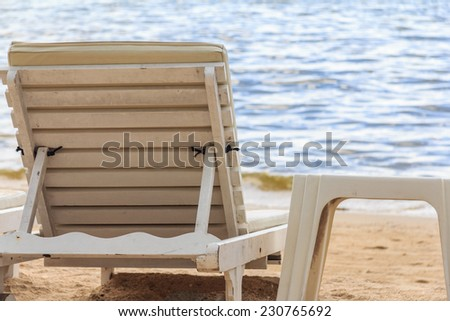 Beach Chairs With Sea View - stock photo