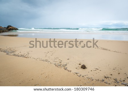Beach Champange Pool, Fraser Island - Australia - stock photo