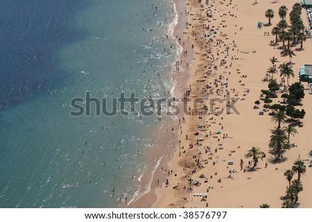 Beach close up - stock photo