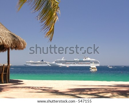 Beach club in Cabo San Lucas / Mexico - stock photo