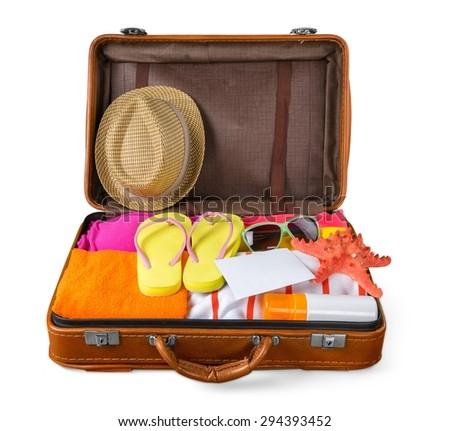 Beach, cruise, clothing. - stock photo