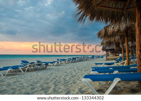 Beach destination in Varadero, Cuba