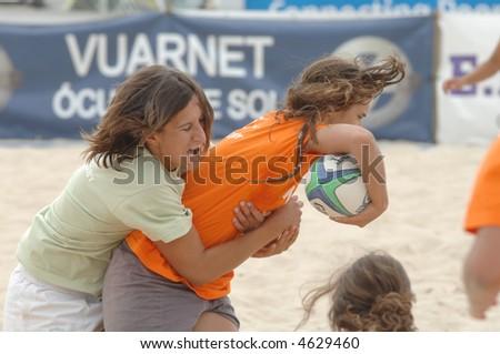 Beach games - Rugby 3th Beach Rugby 2007 (POR) Women Game - stock photo