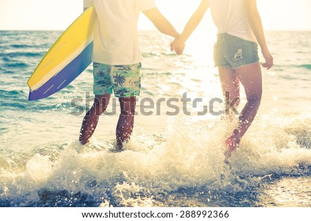 Beach, guy, young. - stock photo