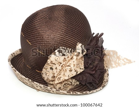 beach hat from the sun - stock photo