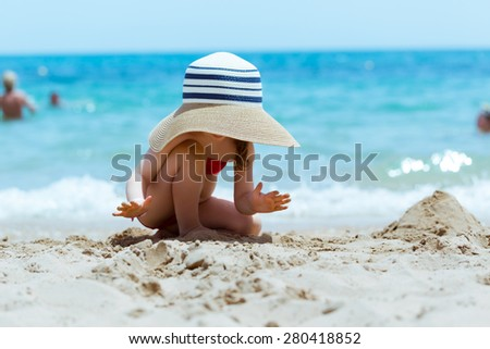 Beach holiday - stock photo