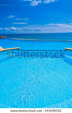 Beach Hotel Blue Luxury  - stock photo