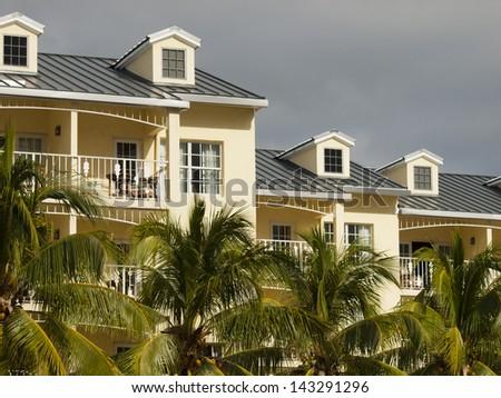 Beach hotel on Key West, Florida. - stock photo