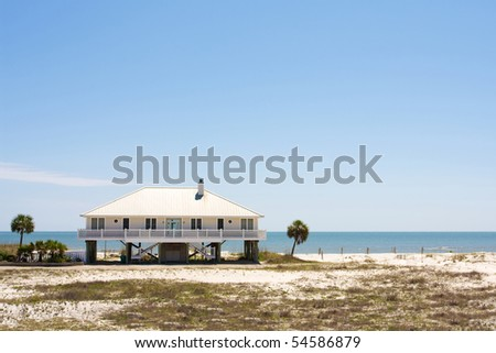 Beach house in Florida - stock photo