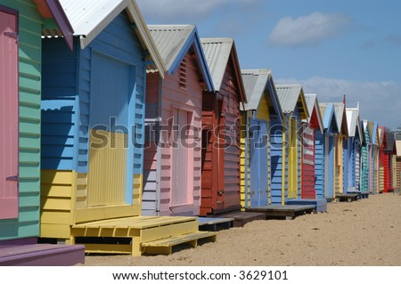 Beach Houses - stock photo