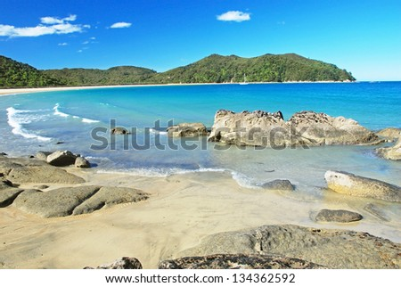Beach in Abel tasman national park, New Zealand