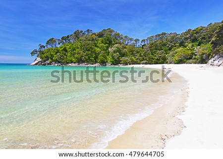 Beach Abel Tasman New Zealand National Stock Photo - Where is new zealand located