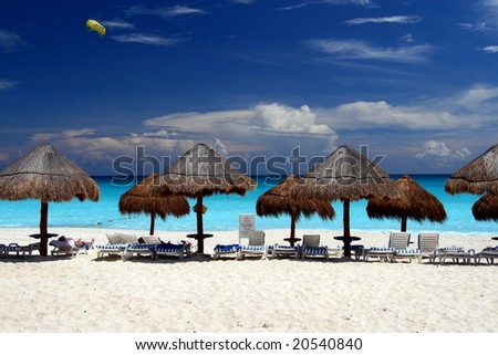 Beach in Cancun - stock photo