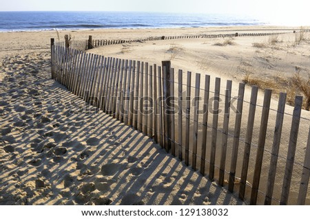 Beach in Early Morning - stock photo