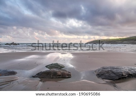 Beach in evening light