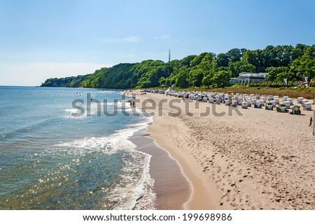 Beach in Goehren, Island of Ruegen - stock photo