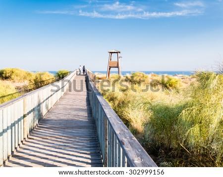beach in Isla Antilla, Huelva, Spain - stock photo