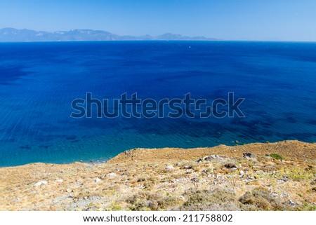 Beach in Kos, Greece. - stock photo