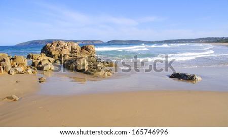 Beach in Plettenberg Bay, Garden Route, South Africa - stock photo