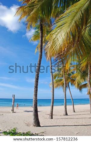 Beach in San Juan, Puerto Rico - stock photo