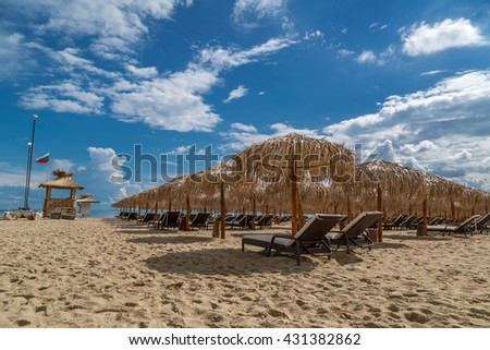 Beach in summer - stock photo