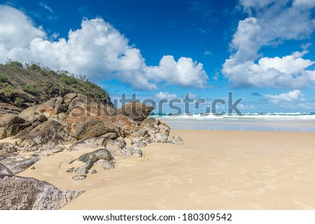 Beach Indian Head, Fraser Island - Australia - stock photo