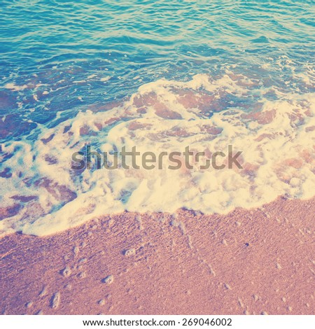 beach. Instagram style filtred image - stock photo