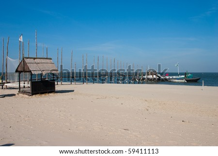 beach landscape Texel - stock photo