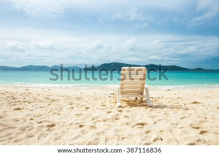 beach lounge chair on beach