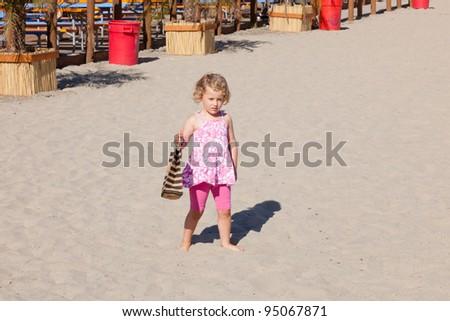 Beach near boardwalk in Santa Cruz, California - stock photo