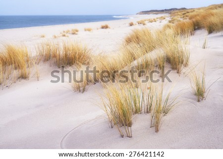 Beach near List on the island of Sylt, Germany - stock photo