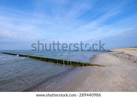 Beach nearby Ahrenshoop - stock photo