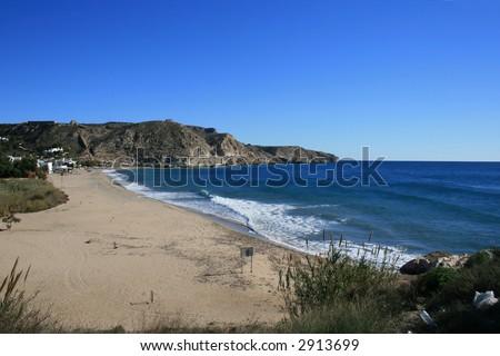 Beach of Argua Armada, Cabo de Gata, Spain - stock photo