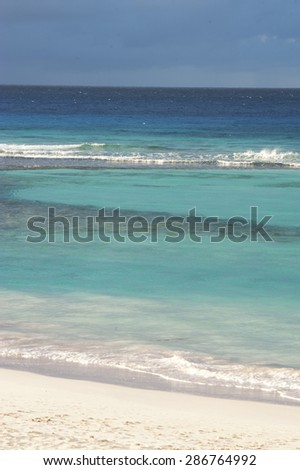 Beach of Barbados island, Caribbean