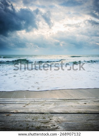 beach of chaweng in Koh Samui Thailand - stock photo
